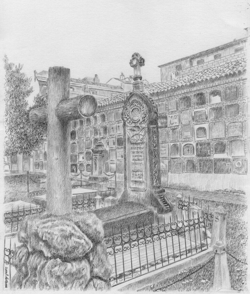 Cementerio antiguo de Jaén - Ilustración de Juan Eduardo Latorre Gálvez
