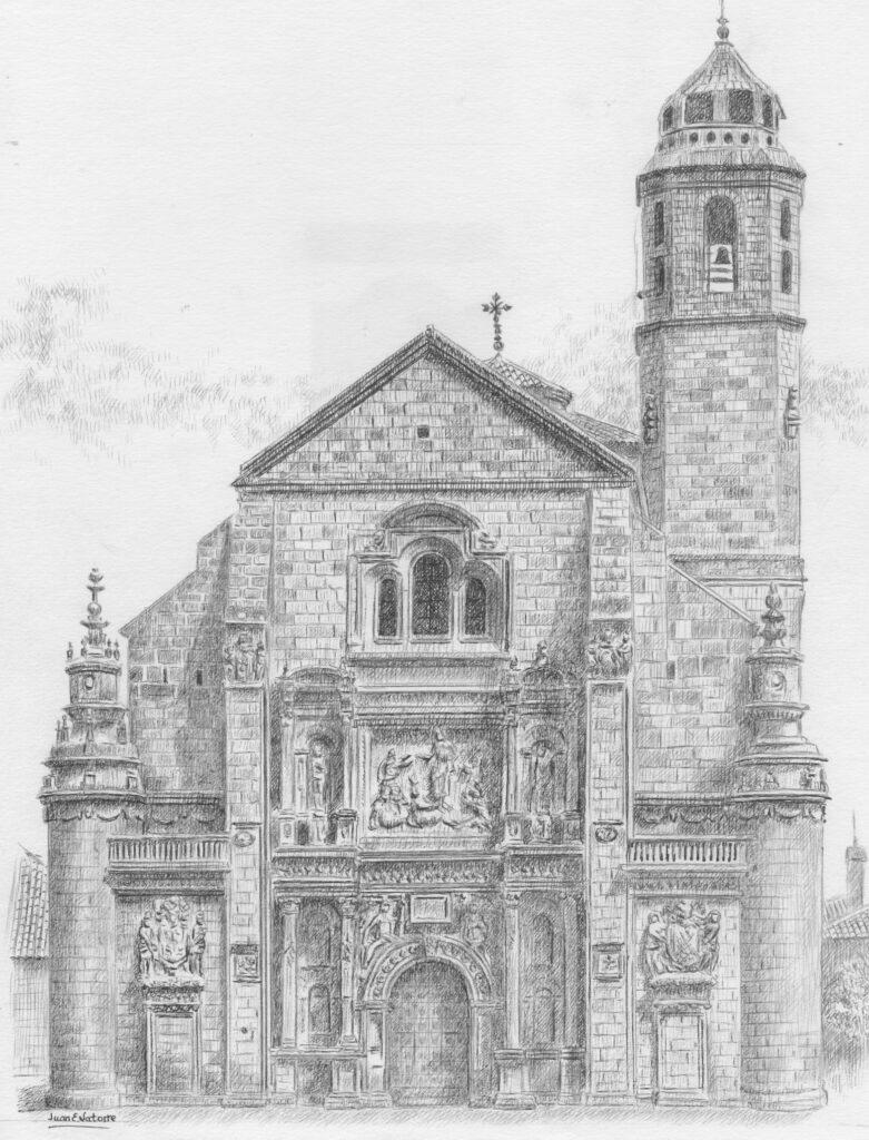 Iglesia 'El Salvvador' - Ilustración de Juan Eduardo Latorre Gálvez