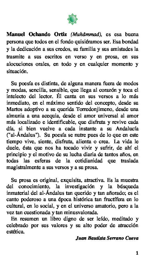 Portada del libro 'Esencia Andalusí' de Manuel Ochando Ortiz