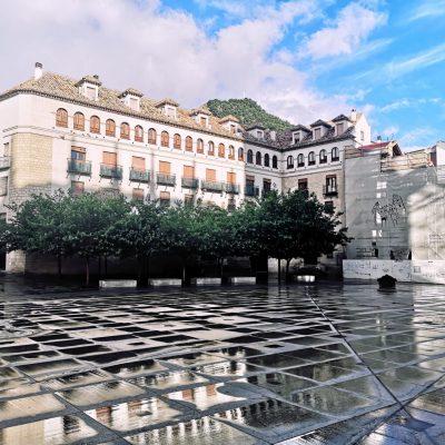 Tablero de Ajedrez en la Plaza de Santa María - JAVIER LEÓN COTARELO